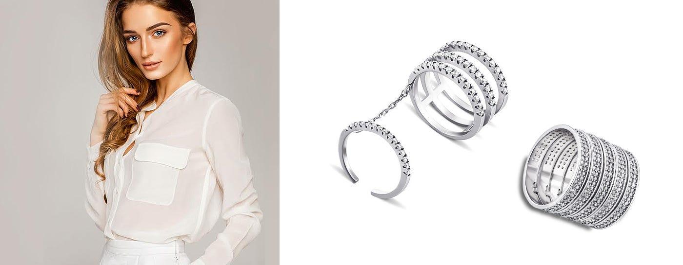 Серебряные фаланговые кольца купить
